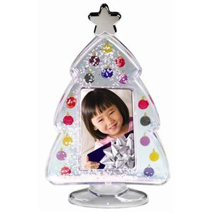 Perfect for the fireplace mantel! The Christmas Tree Photo Snow Globe is just $3.50 each!