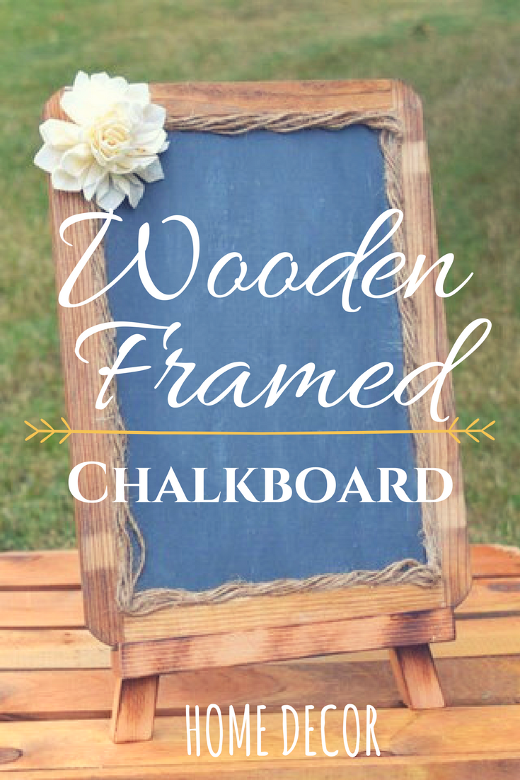 Wooden framed chalkboard. Great for wedding sign or kitchen decor ...