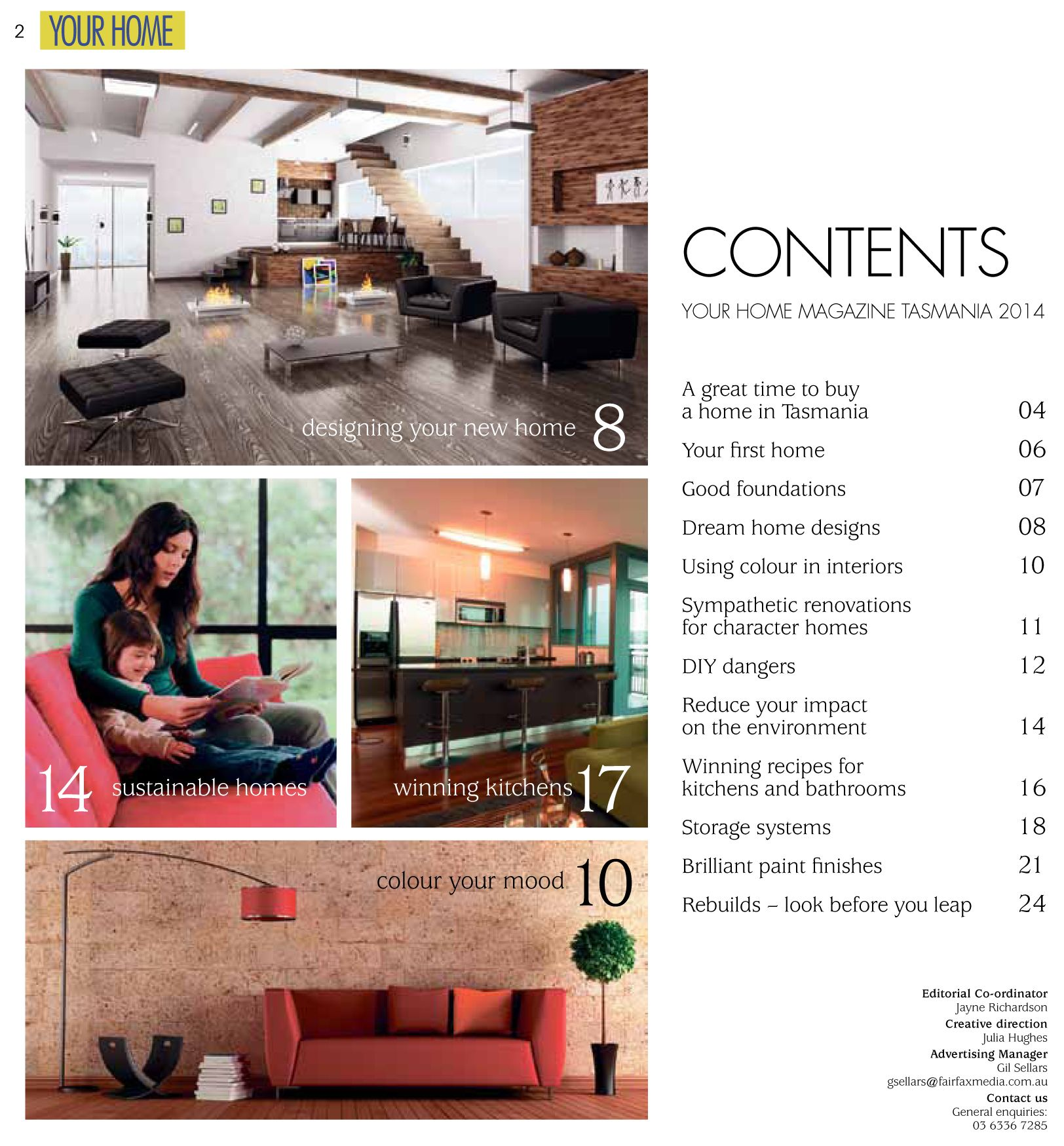 Home Magazine: Contents Page Design For Your Home Magazine Design And