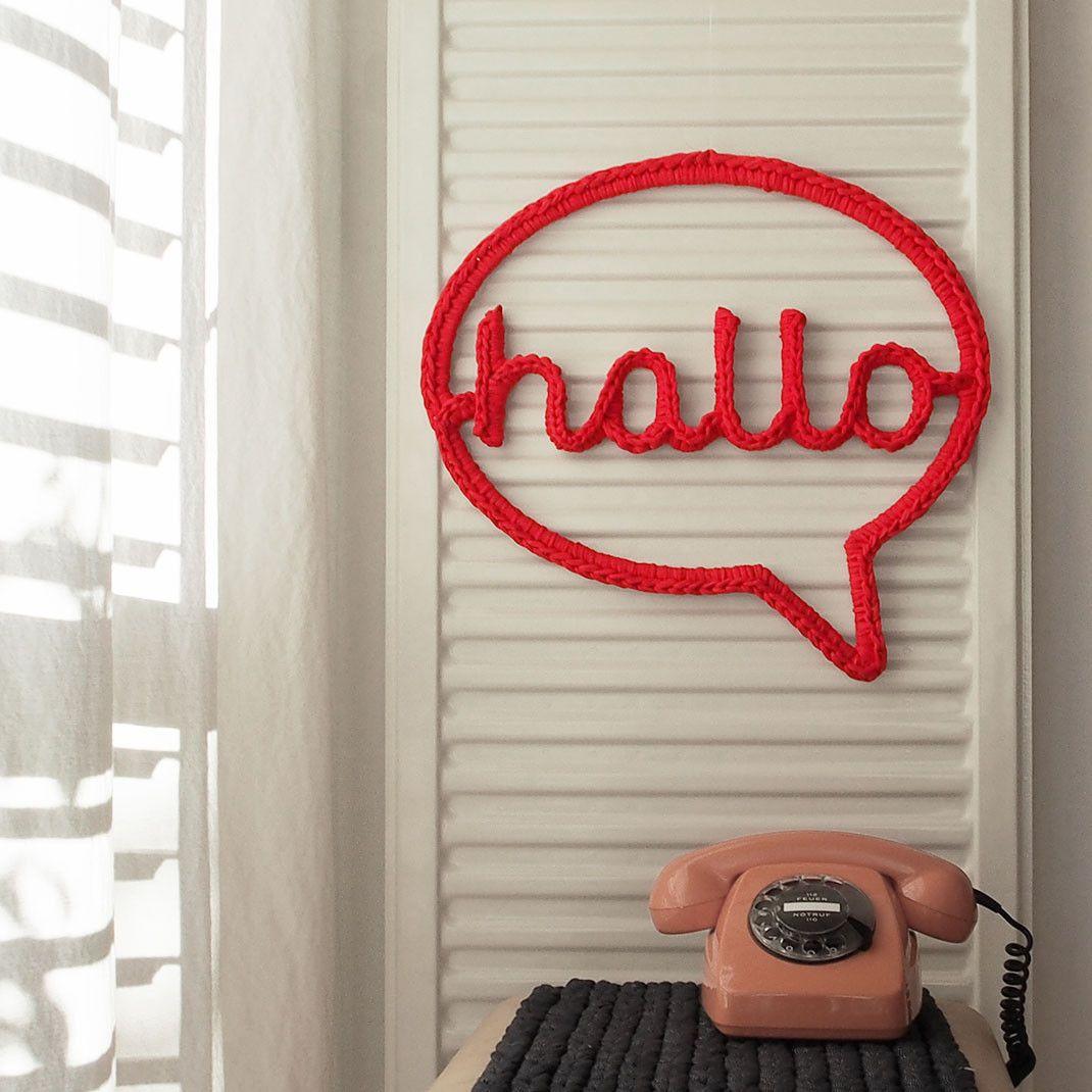 Hakel Sprechblase Hallo Dekorativ Uber Dem Telefon Sehr