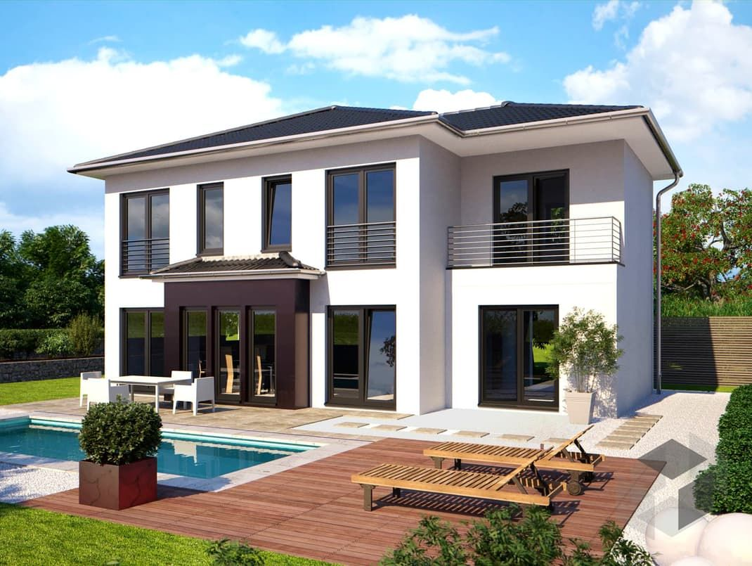 Luxus fertighaus villa  Purer Luxus! Die Stadtvilla Eos 161 von Bärenhaus hat eine ...