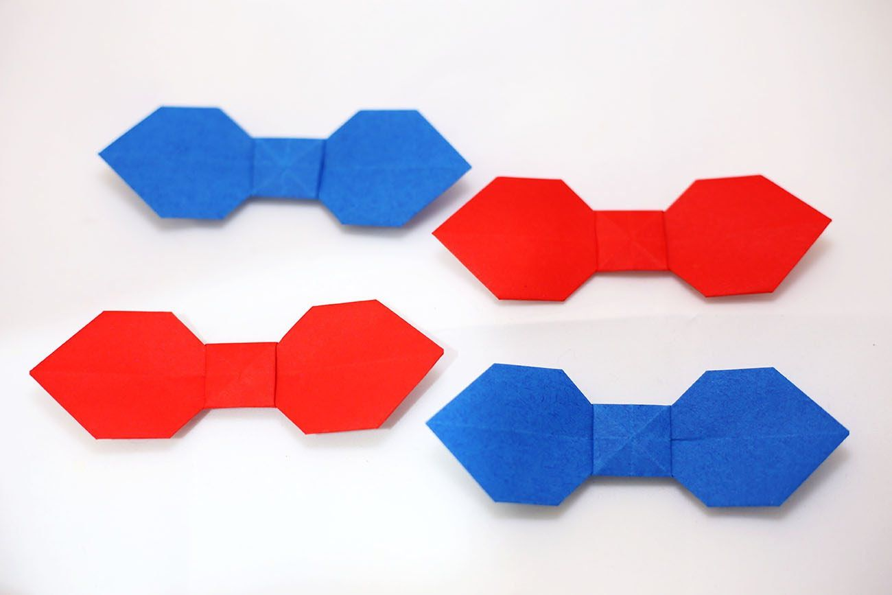 Easy Origami Bow Tie Origami Pinterest