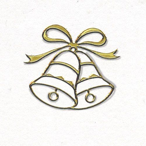 Gold Wedding Bells: Wedding Envelope Seals - Gold Wedding