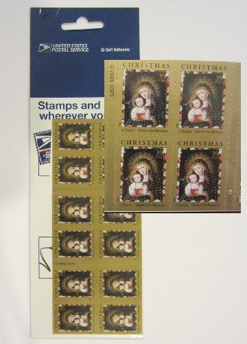 USPS Christmas Madonna Child Postage Stamps 39 Cent By 799