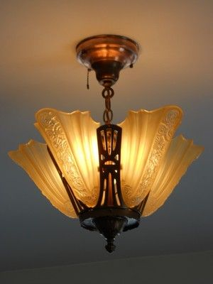 1920s light fixture - would love to find space for something like this.