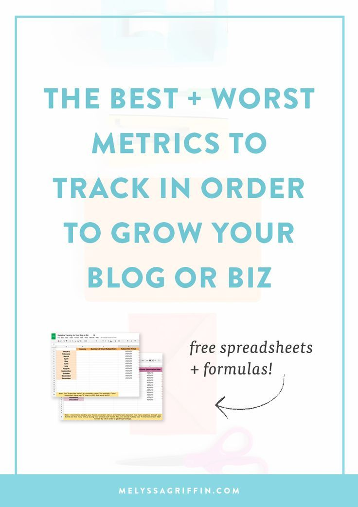 The Best and Worst Metrics to Track in Order to Grow Your Blog or - spreadsheet formulas