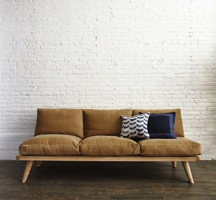 modelos de sof s de madeira sala escrit rio diy couch. Black Bedroom Furniture Sets. Home Design Ideas