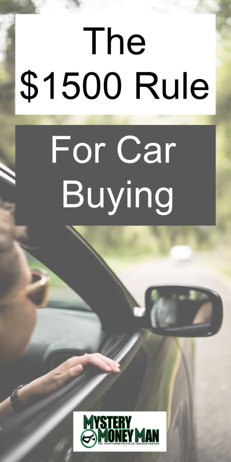 Buying a car. I