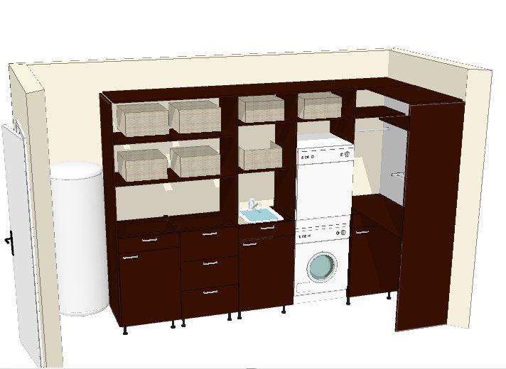 voilà comment j'aimerais aménager mon petit futur cellier. On réutilise nos anciens meubles de ...