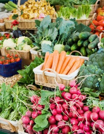 Produce thats fresh and full of vitamins and nutrients.