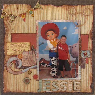 Disney scrapbook layout - meeting Jessie on the Disney Dream