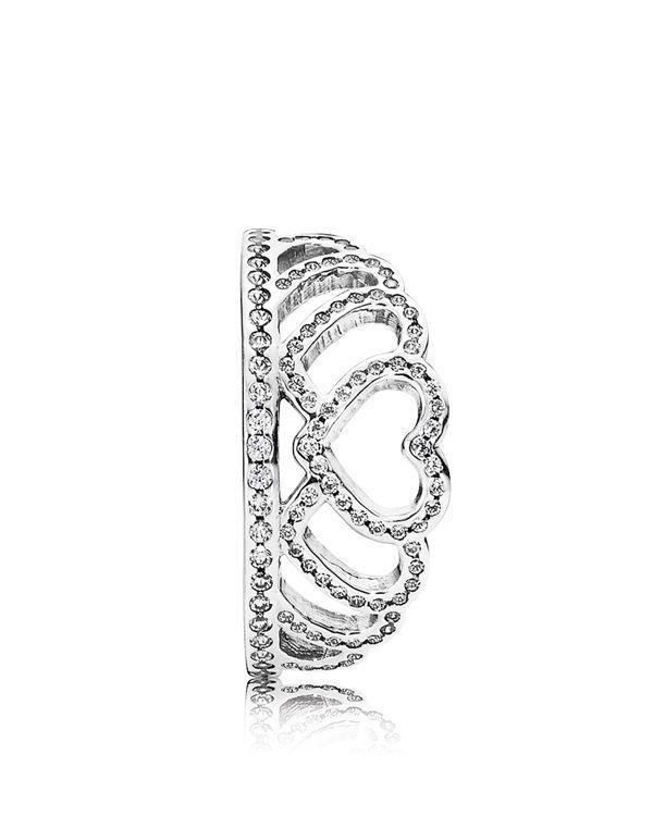 84edc562fd3 PANDORA Ring - Sterling Silver & Cubic Zirconia Hearts Tiara | Stuff ...