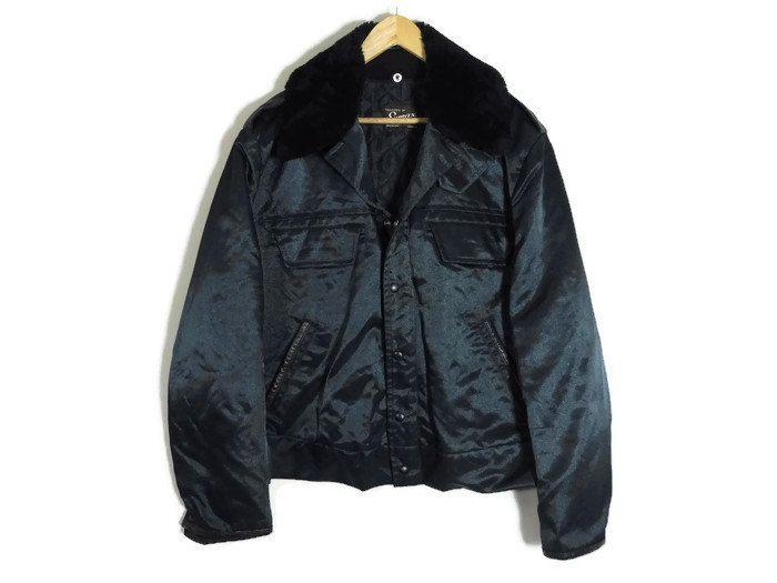 Vintage Police Jacket - XL - Removable Lining