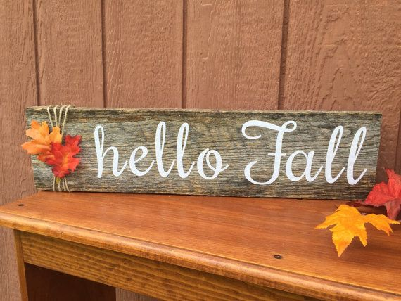 Customizable Hello Fall Wood Sign By Thehopsonshop On Etsy