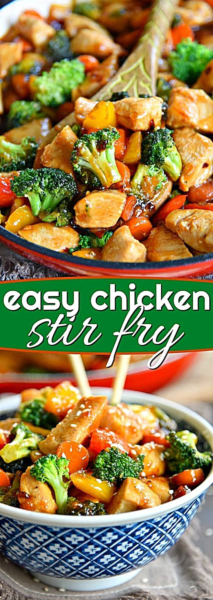 Photo of This easy Chicken Stir Fry recipe is loaded with fresh veggies and the most delicious