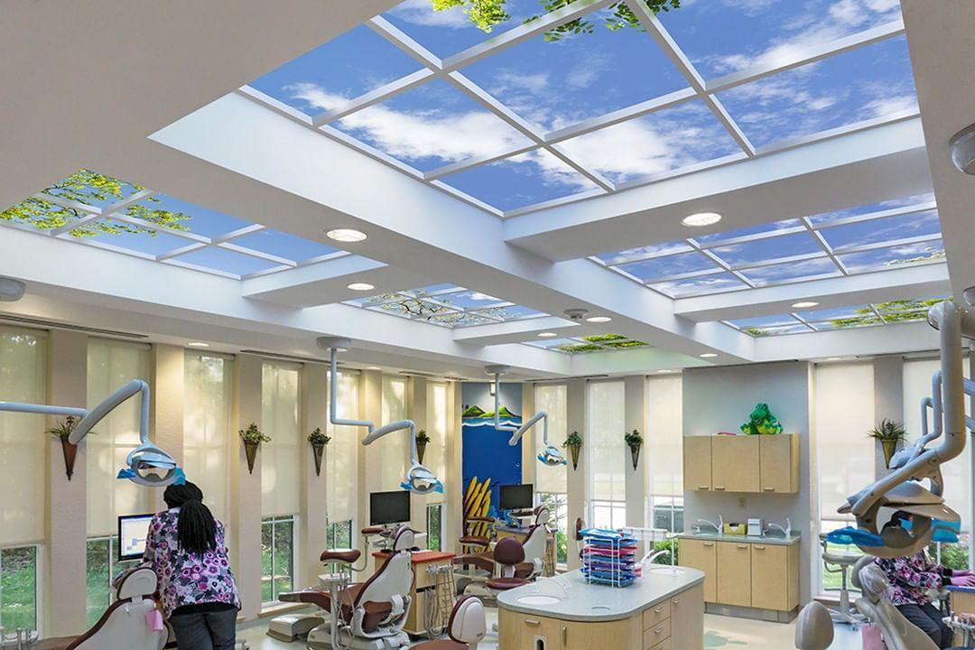 Sky Factory Virtual Skylights On Instagram London Pediatric Dentistry In Virginia Beach Va Was Looking For A Desig In 2020 Pediatric Dentistry Pediatrics Dentistry