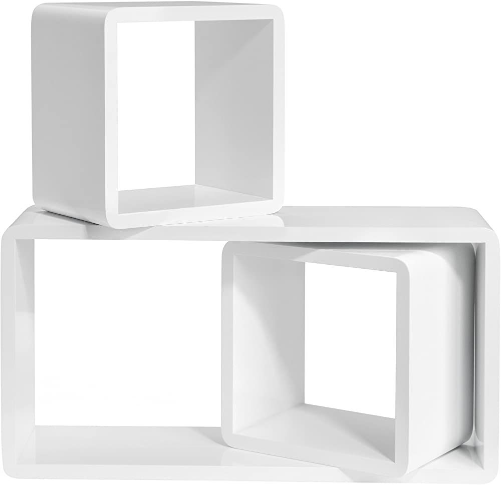 Songmics Wandregal 3er Set Cube Regal Schweberegale Tiefe 15 Cm