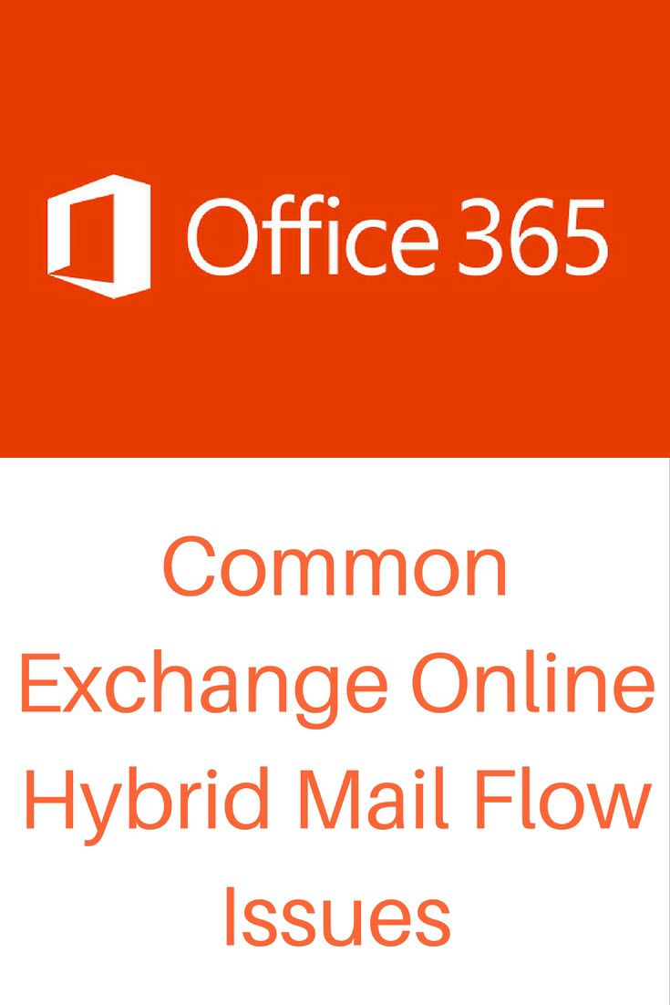 Office 365: Common Exchange Online Hybrid Mail Flow Issues