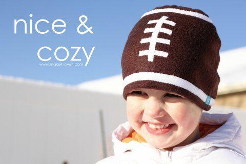 Football fleece hat