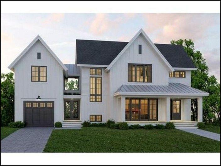 138 Fantastic Color Schemes Farmhouse Exterior Ideas Page 29 Myblogika Com House Designs Exterior Modern Farmhouse Exterior Dream House Exterior