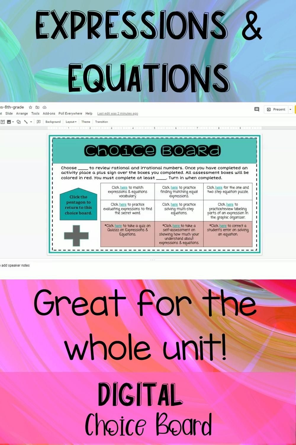 Expressions And Equations 8th Grade Distance Learning Video Video Equations Simplifying Expressions Math Activities Quizizz adding and subtracting