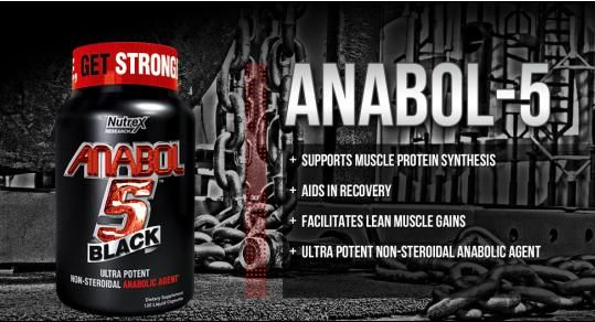 Nutrex Anabol-5 Black pro-anabolic hormonal that builds muscle with maximum definition and muscle nitrogen. Supplement with low price at CorposFlex. http://www.corposflex.com/en/nutrex-anabol-5-black-120-liquid-caps-hormonal