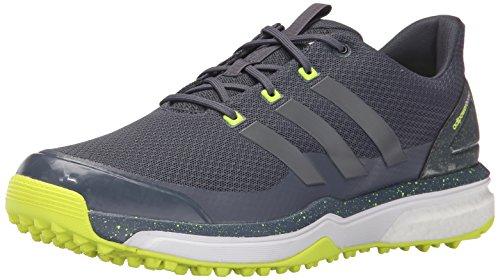 adidas Mens Adipower S Boost 2 Golf Cleated Onix/Iron Metallic/Solar Yellow M