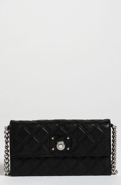 9b95d1bec8f Marc Jacobs Lacquered Quilting Ginger Shoulder Bag in Black (black/nickel)  - Lyst