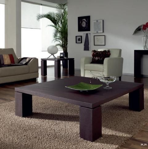 Mesa De Centro De Madera Oscura Y 4 Pies  Decoracion  Pinterest Enchanting Center Table Design For Living Room Design Decoration