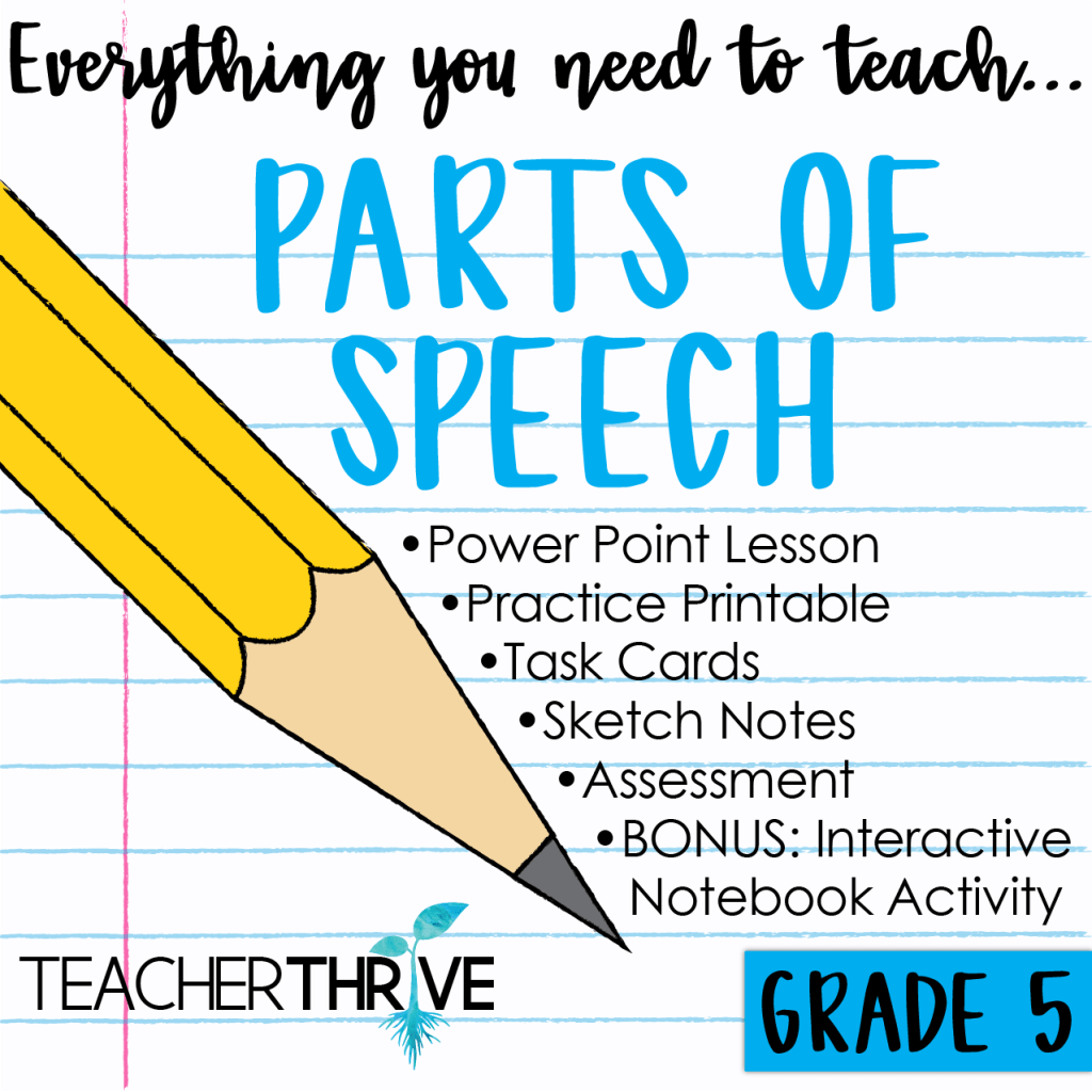 Fifth Grade Grammar Bundle Teacher Thrive In