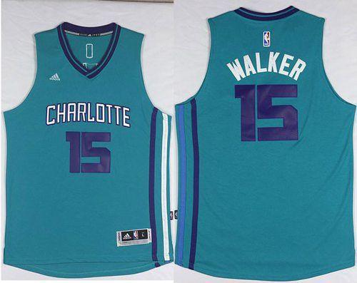 3114cbecf218 Revolution 30 Hornets  15 Kemba Walker Light Blue Stitched NBA Jersey