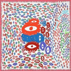 -2015 Offset Lithograph Yayoi Kusama-Self- Obliteration No Red Dots 2