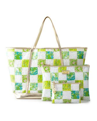 Coastal Tote & Fun-in-the-Sun Zip Duo by Lilly Pulitzer at Neiman Marcus.