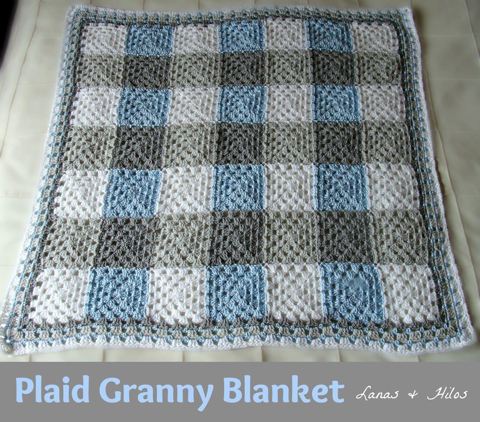 Plaid Granny Blanket This Will Be My Next Baby Blanket Haken En