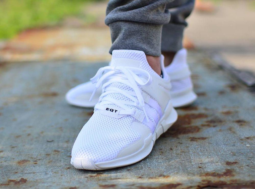 adidas eqt appoggio avanzata 91 16 - bianco & nero chaussure
