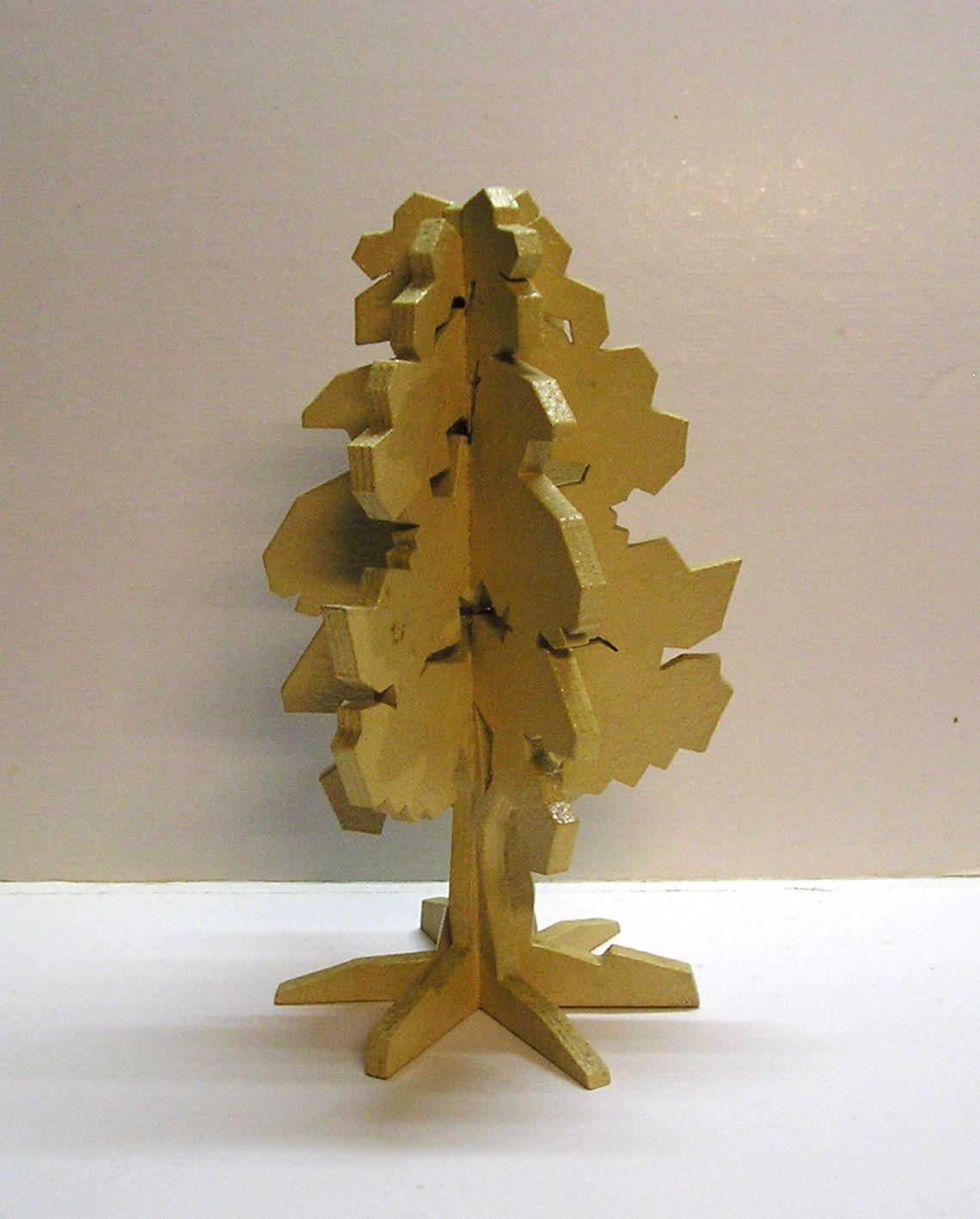 Frassino scultura in legno - 6 elementi trattati con plastico e sabbia - cm 21 x 39 H - Ash-tree 6 wood elements covered with sand-plastic.