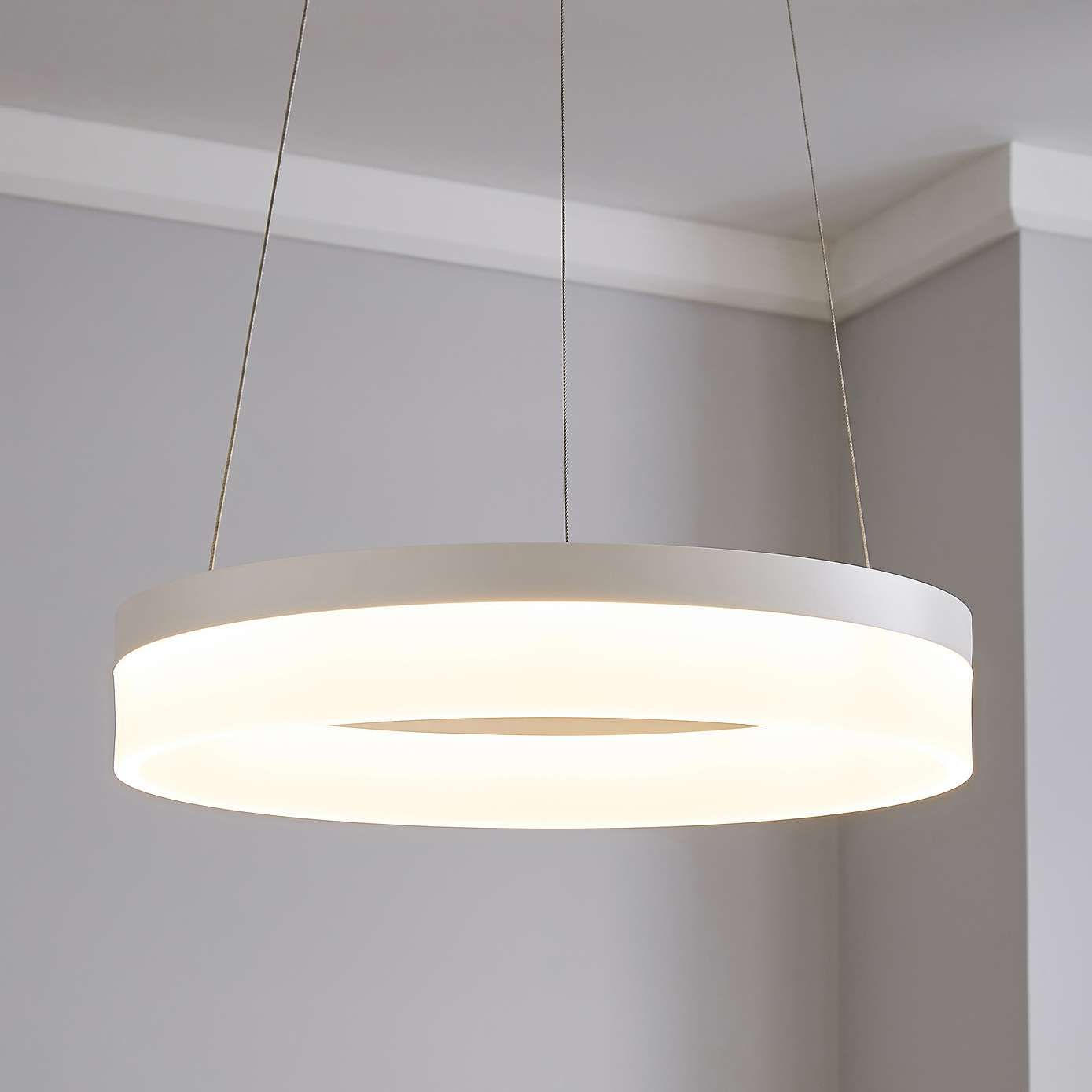 Mickie Integrated Led White Hoop Fitting Dunelm Ceiling Lights