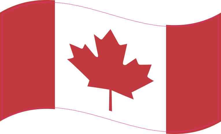 5in x 3in waving canada flag sticker vinyl vehicle bumper decal stickers