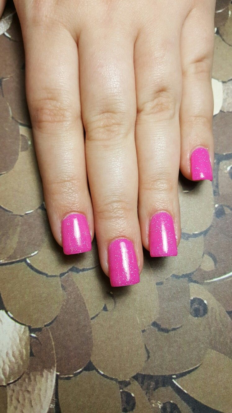 Pink dip nails with China glaze fairy dust ! #revel #nails #dip #D5 ...