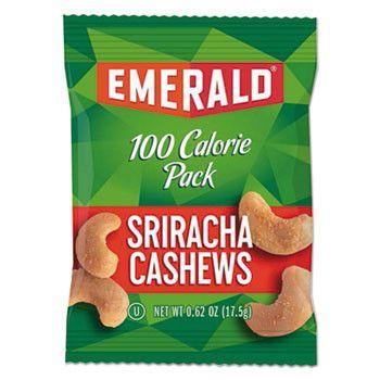 100 Calorie Pack Nuts, Sriracha Cashews, 0.62 Oz Pack, 12/box