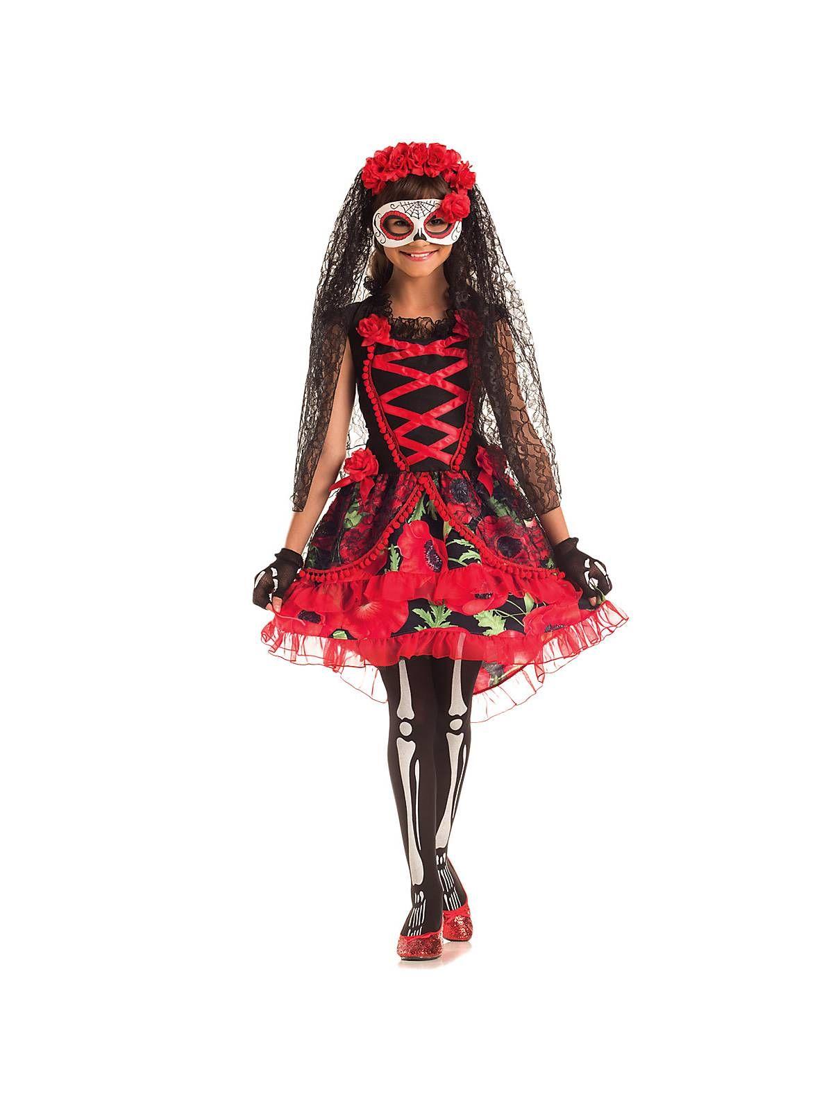 girls day of the dead senorita costume   los muertos day of the dead