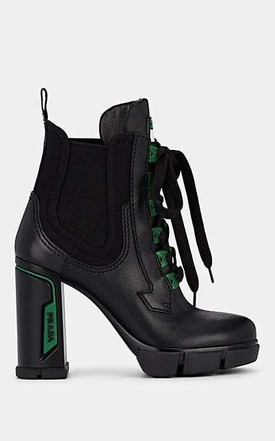 fashion styles big discount high quality Prada Women's Leather & Neoprene Ankle Boots - Nero in 2019 ...