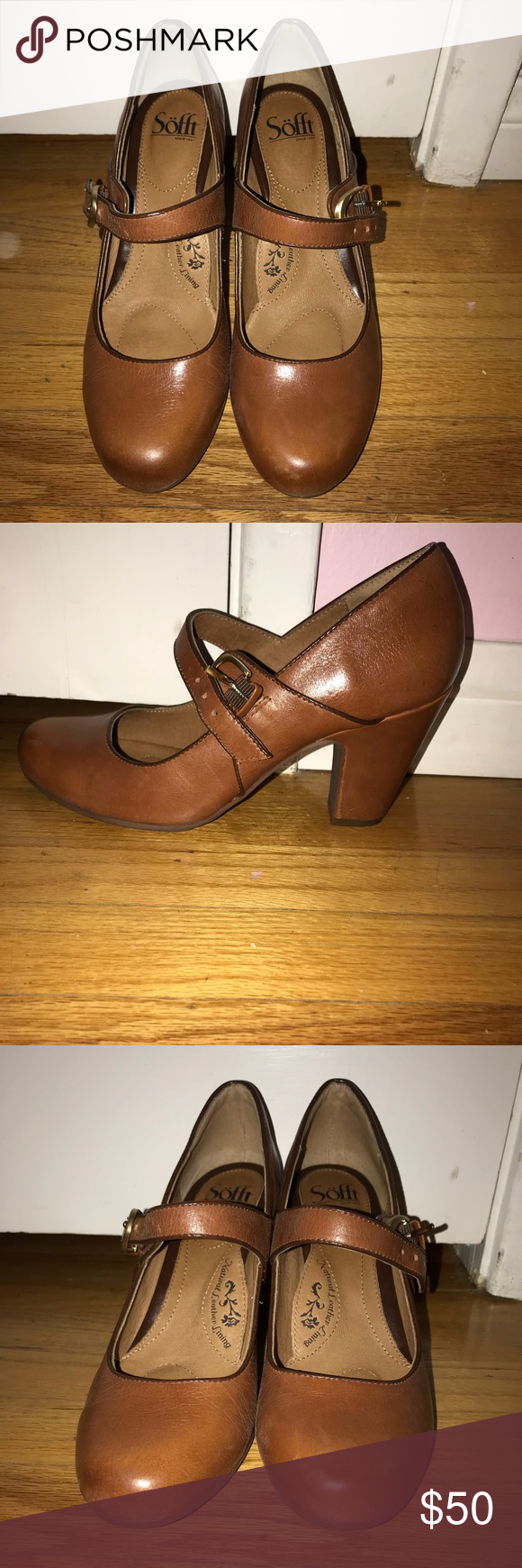 97fb3e8338cd Sofft shoes Miranda cork sturdy brown Worn once great shoes but cleaning  out my closet Sofft Shoes Heels