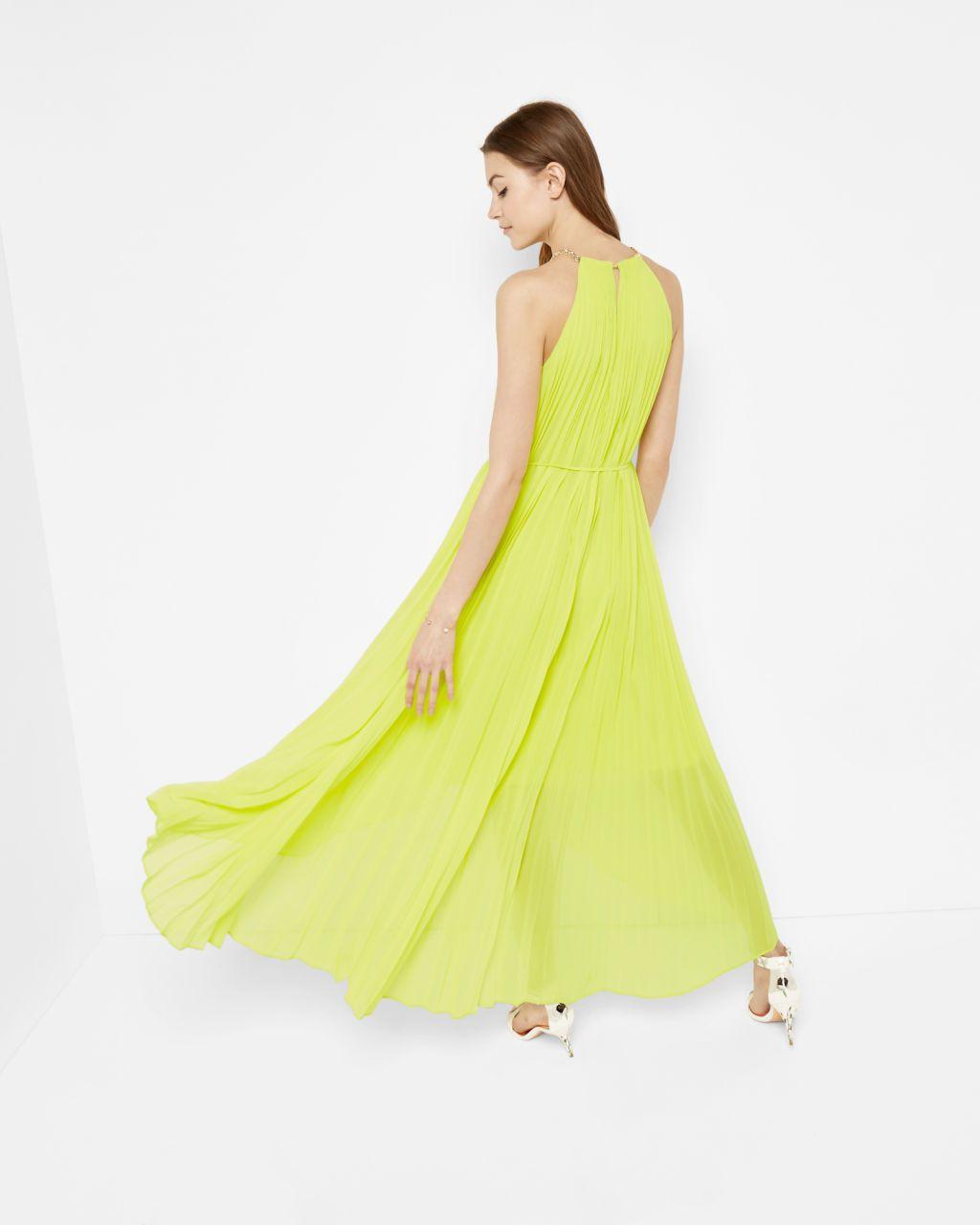 bf4016a30da Dipped hem pleated dress - Lime   Dresses   Ted Baker   TB   Dresses ...