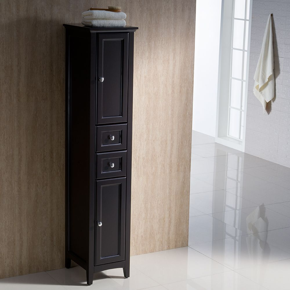 Oxford Espresso Tall Bathroom Linen Cabinet | Keesling bathroom ...
