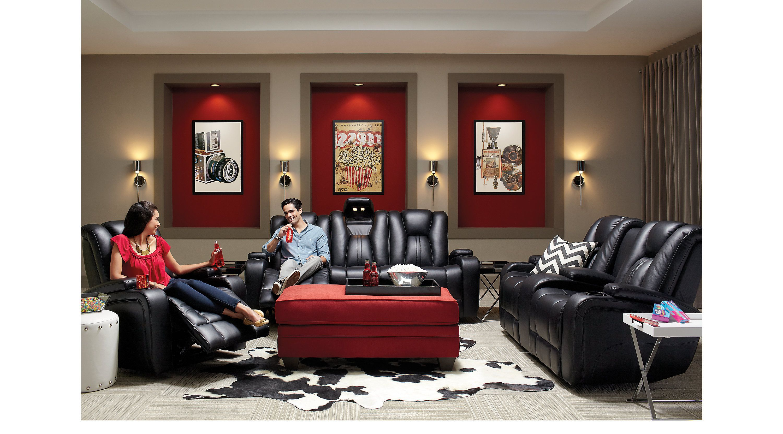 Kingvale Black 2 Pc Power Reclining Living Room Home