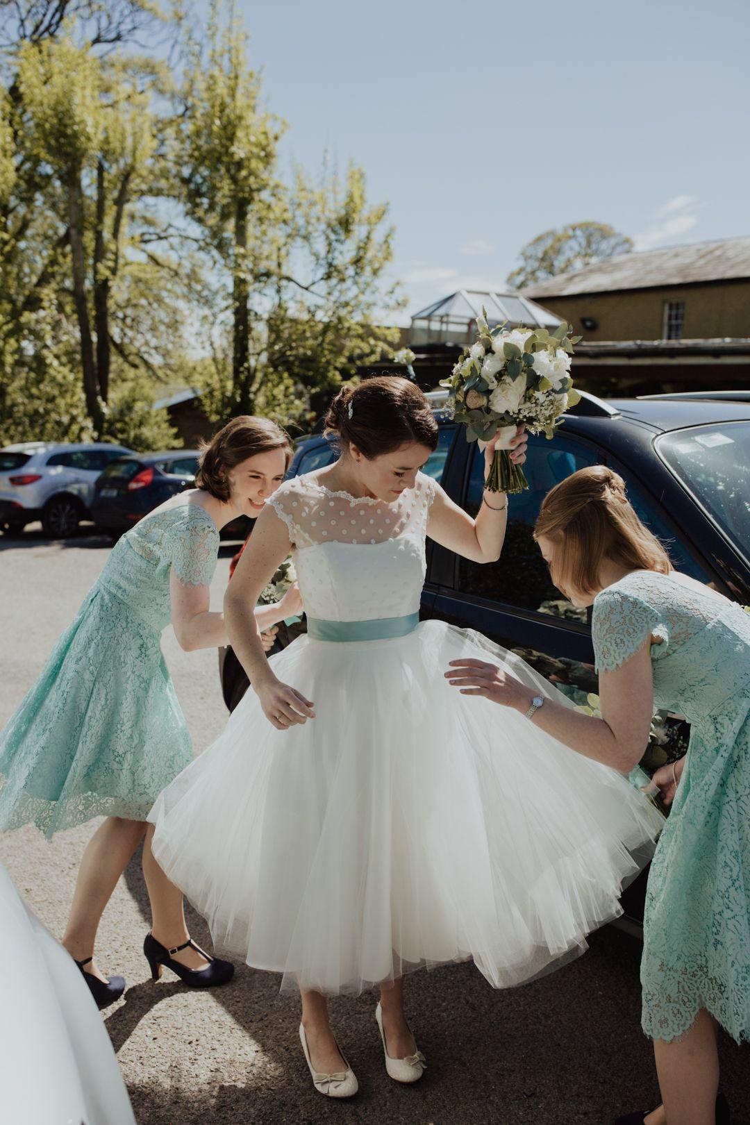 Sweet Simple And So Much Fun Olivia Donnacha Onefabday Com Short Wedding Dress Vintage Tea Length Wedding Dress Short Wedding Dress [ 1620 x 1080 Pixel ]