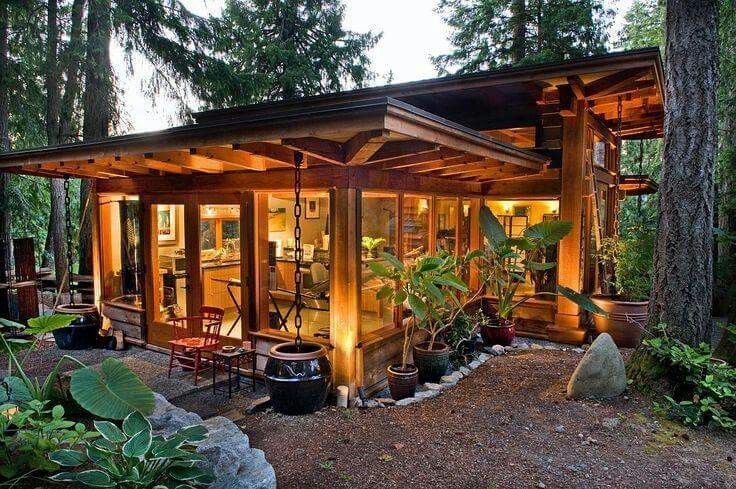 A Small Forest Home Small House Tiny House Movement Modern