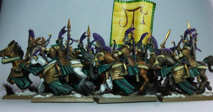 Here are the final pics of the army and the units one by one ...