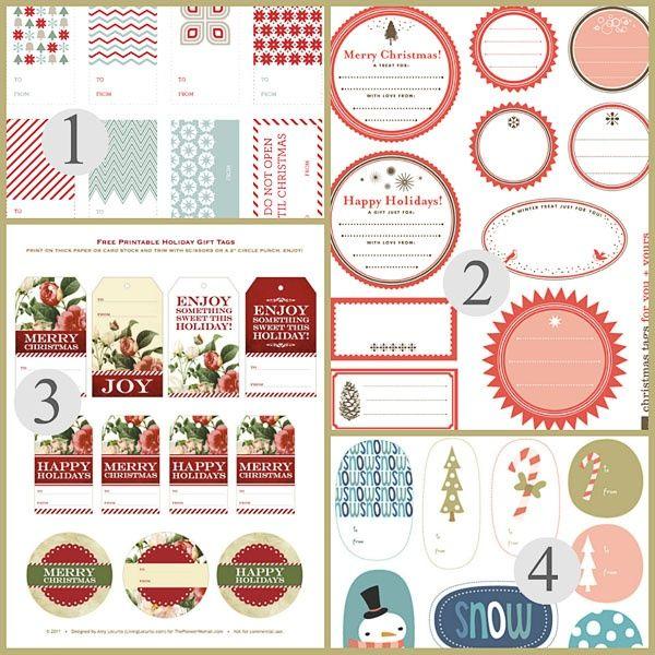 Free printable christmas tags gift tags xmas printables free printable christmas tags gift tags negle Images